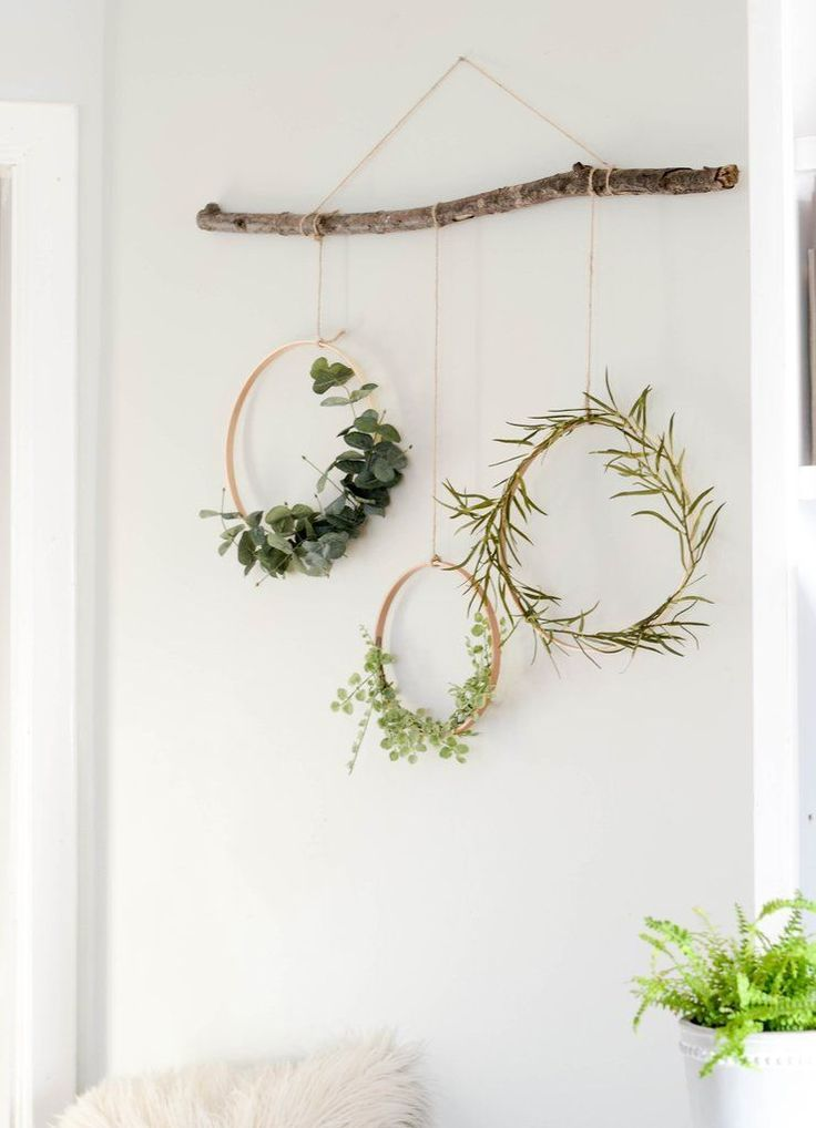 Wreaths Hanging From A Branch