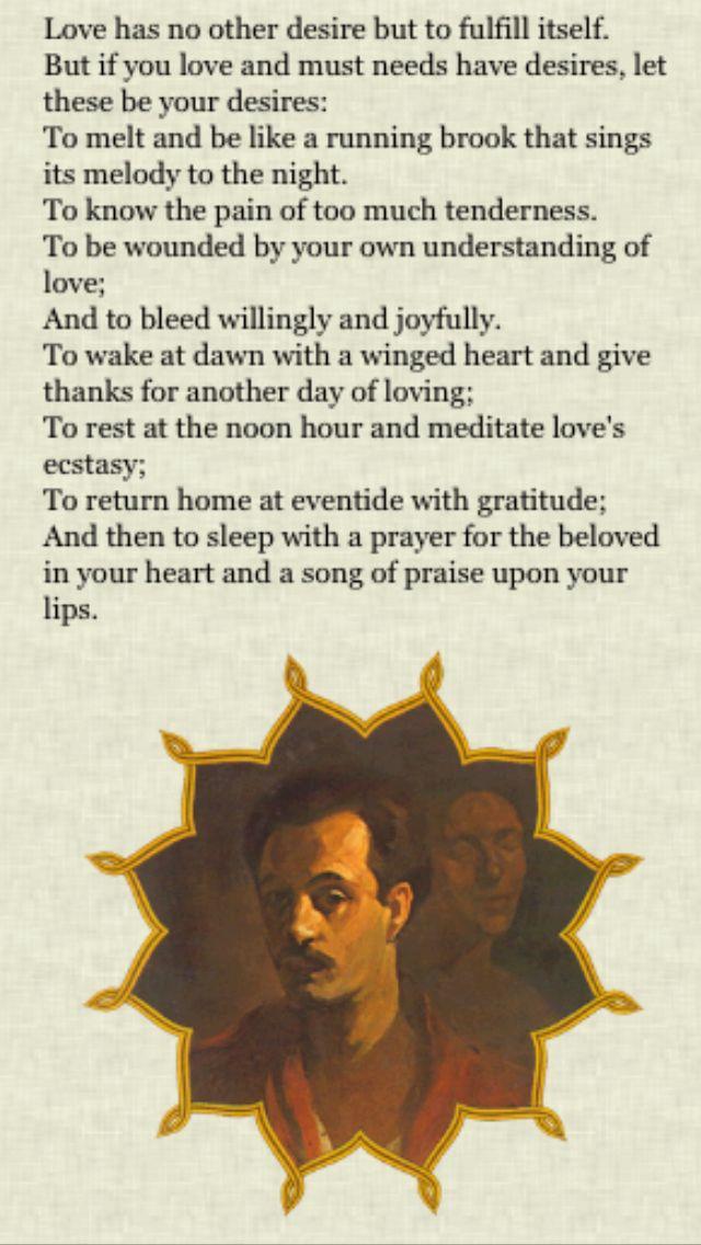 Excerpt From The Prophet By Khalil Gibran Kahlil Gibran