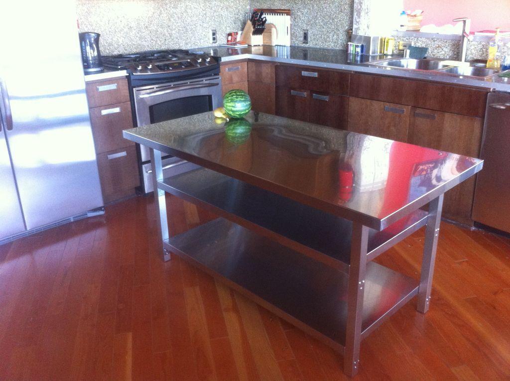 Kitchen Island Cart | Metal kitchen island, Kitchen ...