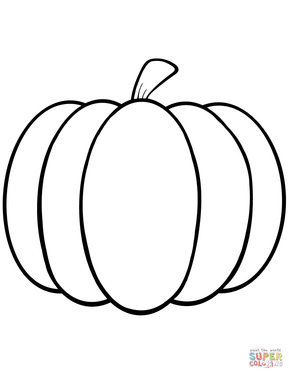 Simple Pumpkin Coloring Page Free Printable Coloring Pages Pumpkin Coloring Sheet Pumpkin Coloring Pages Fall Coloring Pages