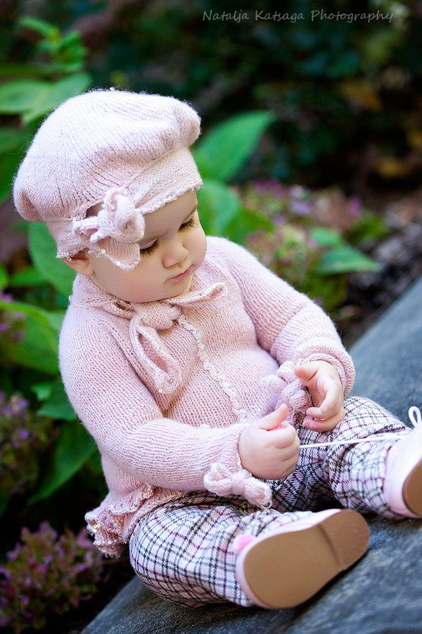 0f155409e Pink Cashmere Glitter Bow Ruffle Baby Girl Beret Hat - 0 - 9 months ...