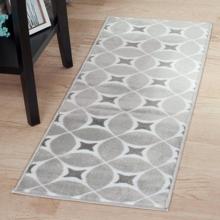 Somerset Home Jane Area Rug, Grey and White, 1'8 inch x 5', Gray
