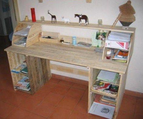 Faire un bureau en bois de palette des modèles palettes