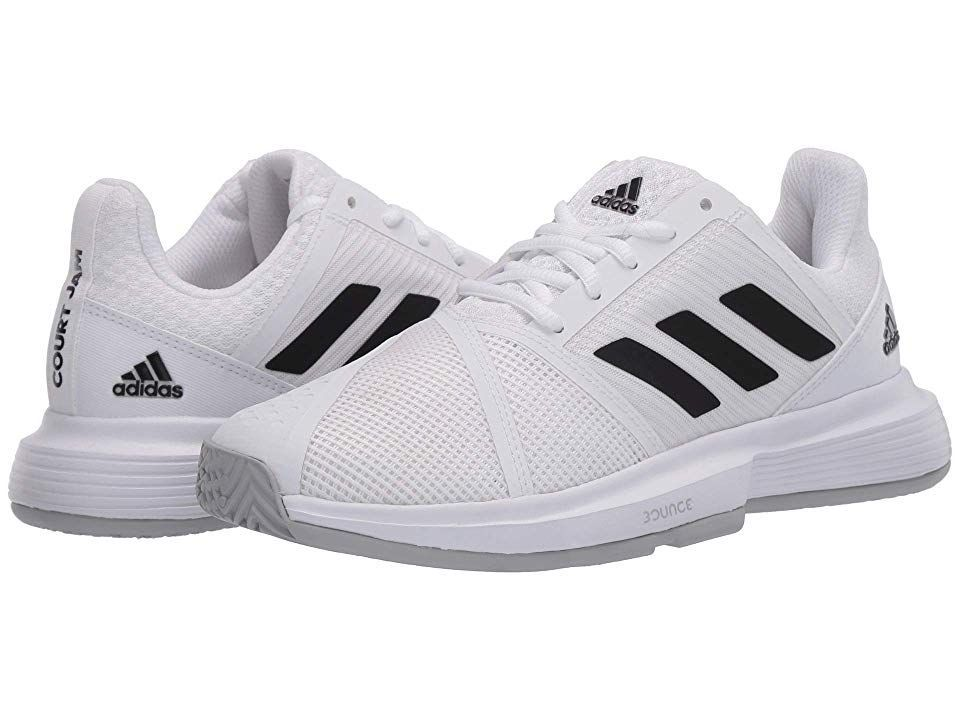 Adidas Courtjam Bounce Women S Shoes Footwear White Core Black Matte Silver Source By Zappos Adidas Bounce C In 2020 Women Shoes Tennis Shoes Womens Silver Shoes