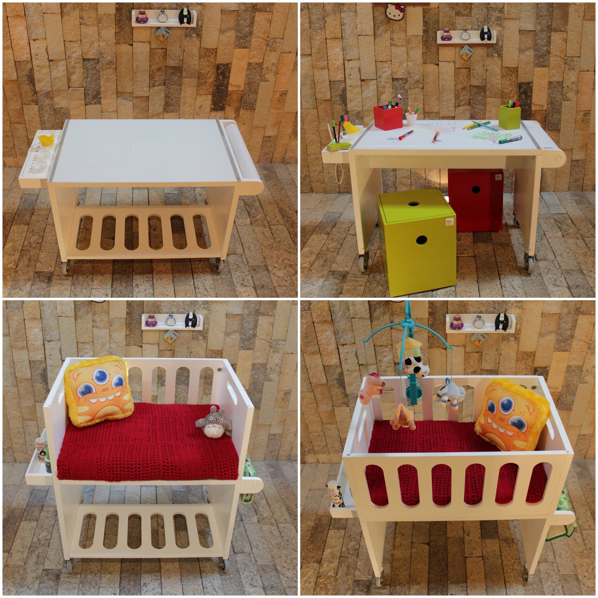 Cuna colecho + Mesa de Arte   Niños y paternidad   Pinterest ...