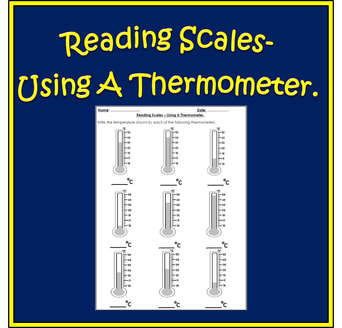Learn To Read Temperatures With This Reading Scales