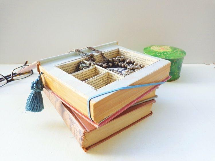 Wohnaccessoires selber machen  Aus dem alten Buch einen Schmuckkasten basteln | Books | Pinterest ...