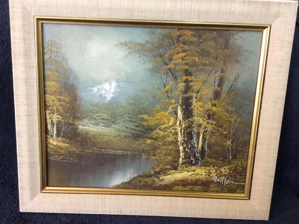 Listed Artist Phillip Cantrell Vintage Oil On Canvas Landscape Painting 8x10 Painting Landscape Paintings Oil On Canvas