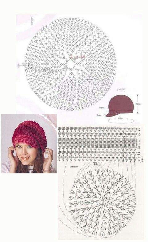 Gorro a ganchillo | Crochet Hats | Pinterest | Ganchillo, Patrones ...