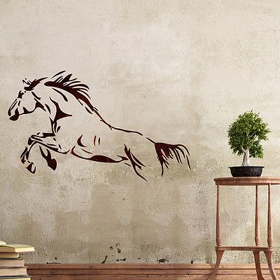 Details About Wall Stencils Horse Stencil Large Template For Diy Room Decor Wall Graffiti Art Horse Stencil Stencils Wall Stencil Wall Art