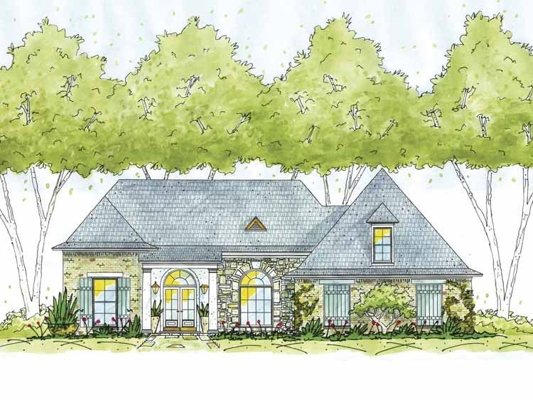 Eplans French Country House Plan - Three Bedroom Norman - 1773