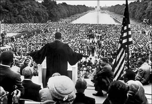 """""""Yo tengo un sueño"""" fue invocado 8 veces por Luther King, durante su discurso por un EEUU unido y sin discriminación."""