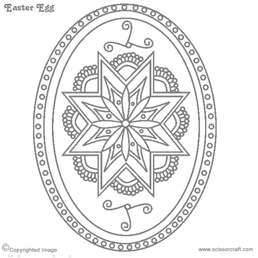 Blank Designs Easter Egg Pattern Coloring Easter Eggs Egg Designs