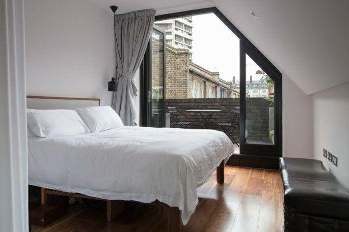 schlafzimmer dachschräge weiße bettwäsche Schlafzimmer Ideen - ideen schlafzimmer mit dachschrage