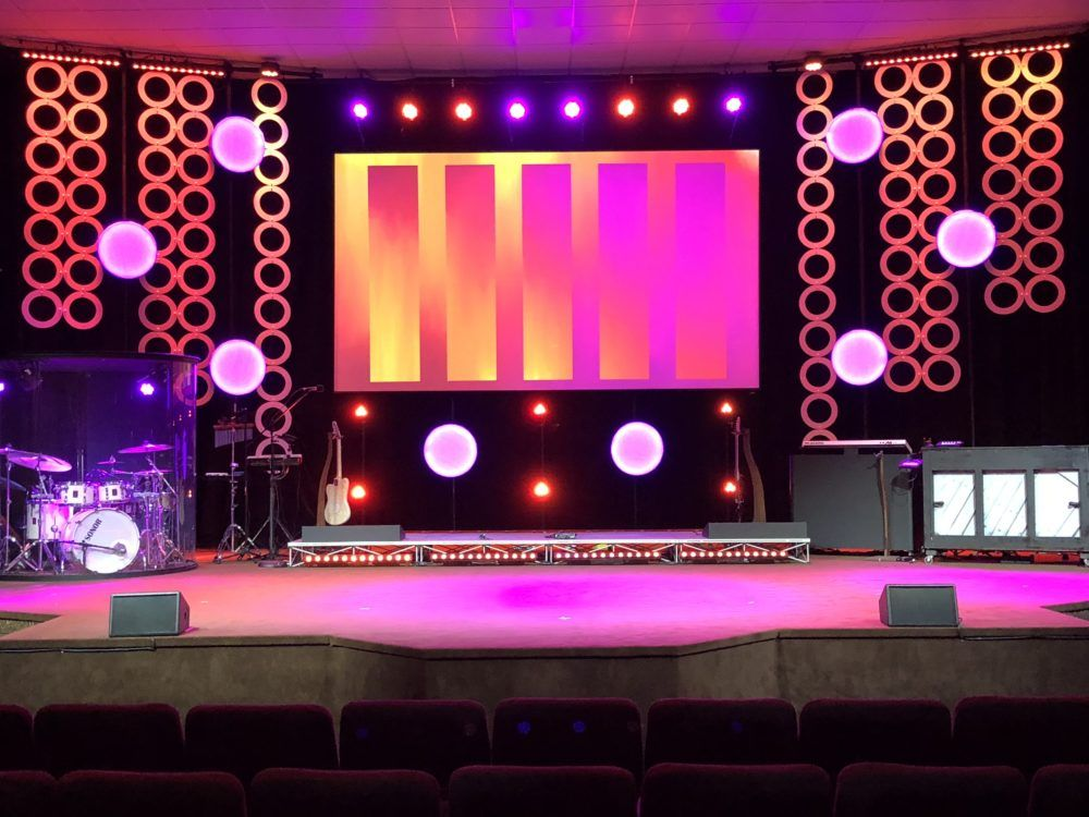 Seeing Spots Church Stage Design Stage Backdrop Design Stage