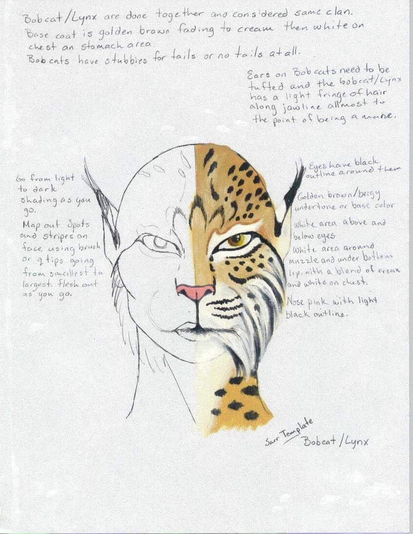 7a3c78f30f6 Makeup template for lynx facepaint | Big Cats | Fantasy makeup ...