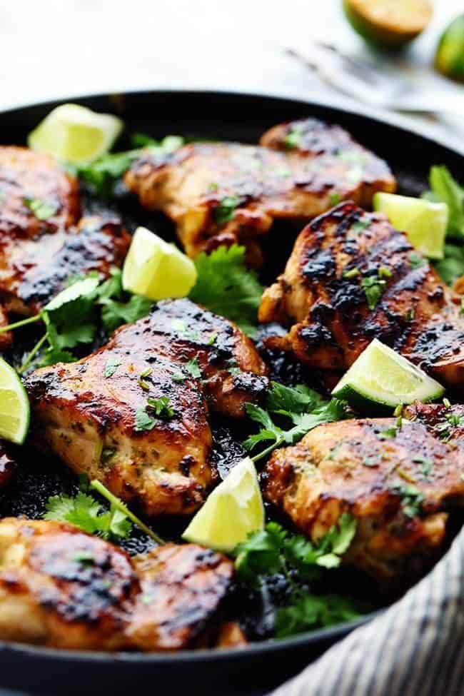 Grilled Honey Lime Cilantro Chicken #honeylimechicken