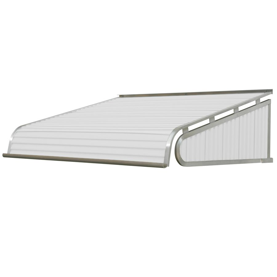 Nuimage Awnings 1500 48 In Wide X 24 In Projection White Solid Slope Door Fixed Awning Lowes Com Door Awnings Awning Fabric Awning