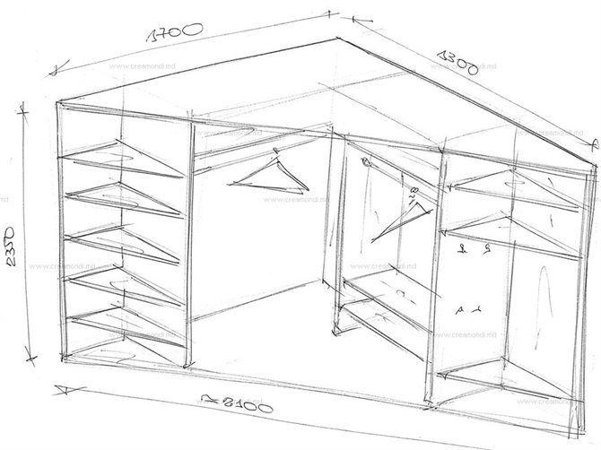 угловой встроенный шкаф купе своими руками чертежи карандаш