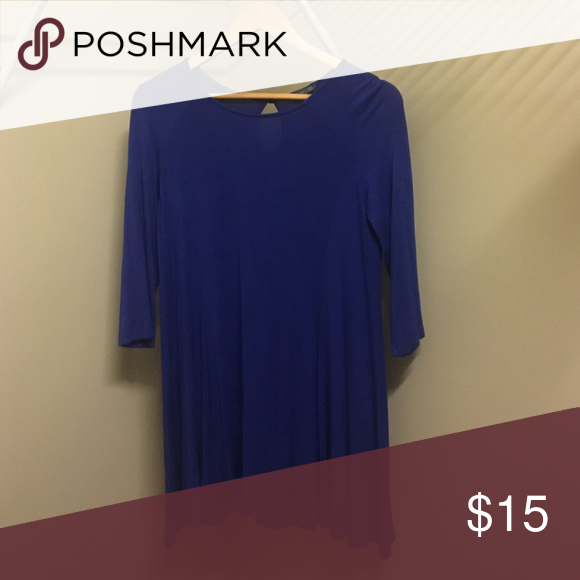 """Blue dress Blue piko style dress size large but I'm 5'7"""" and it was too short for me Soprano Dresses Long Sleeve"""