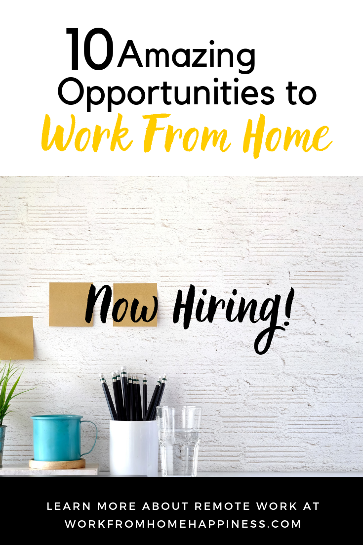 10 Awesome Work From Home Jobs Hiring This Week. Apply Now