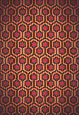 The Shining Poster 24x36 In Overlook Hotel Carpet Pattern Rare Oop