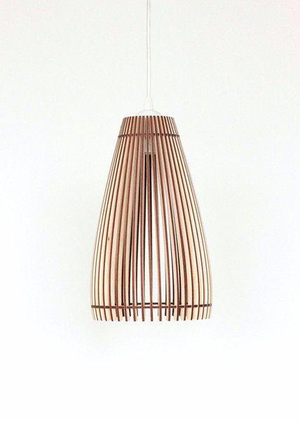 Lampen & Kerzen 40cm Holz Lampe, Pendelleuchte , Holz