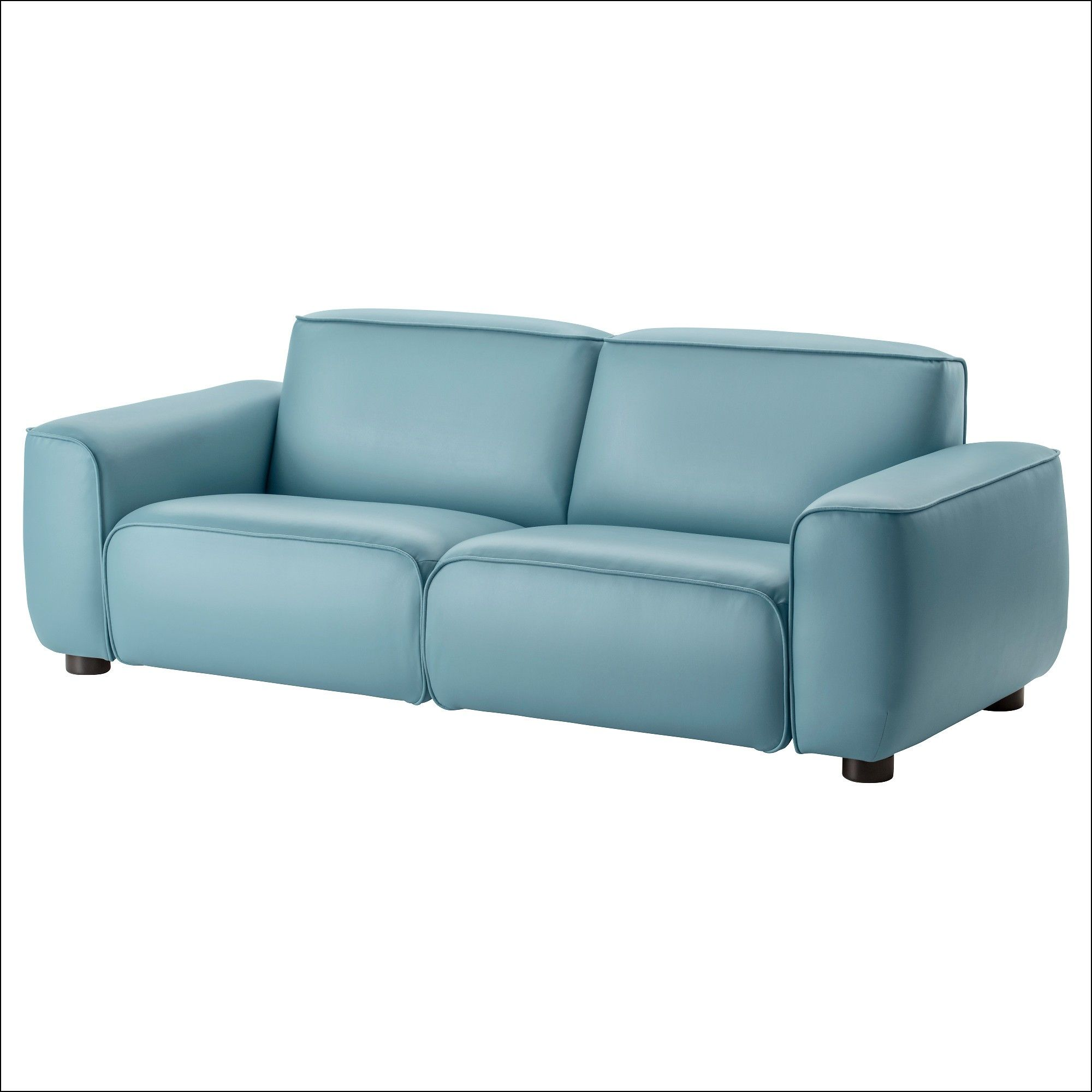Blue Leather sofa Ikea | Sofa | Blue leather sofa, Ikea sofa ...
