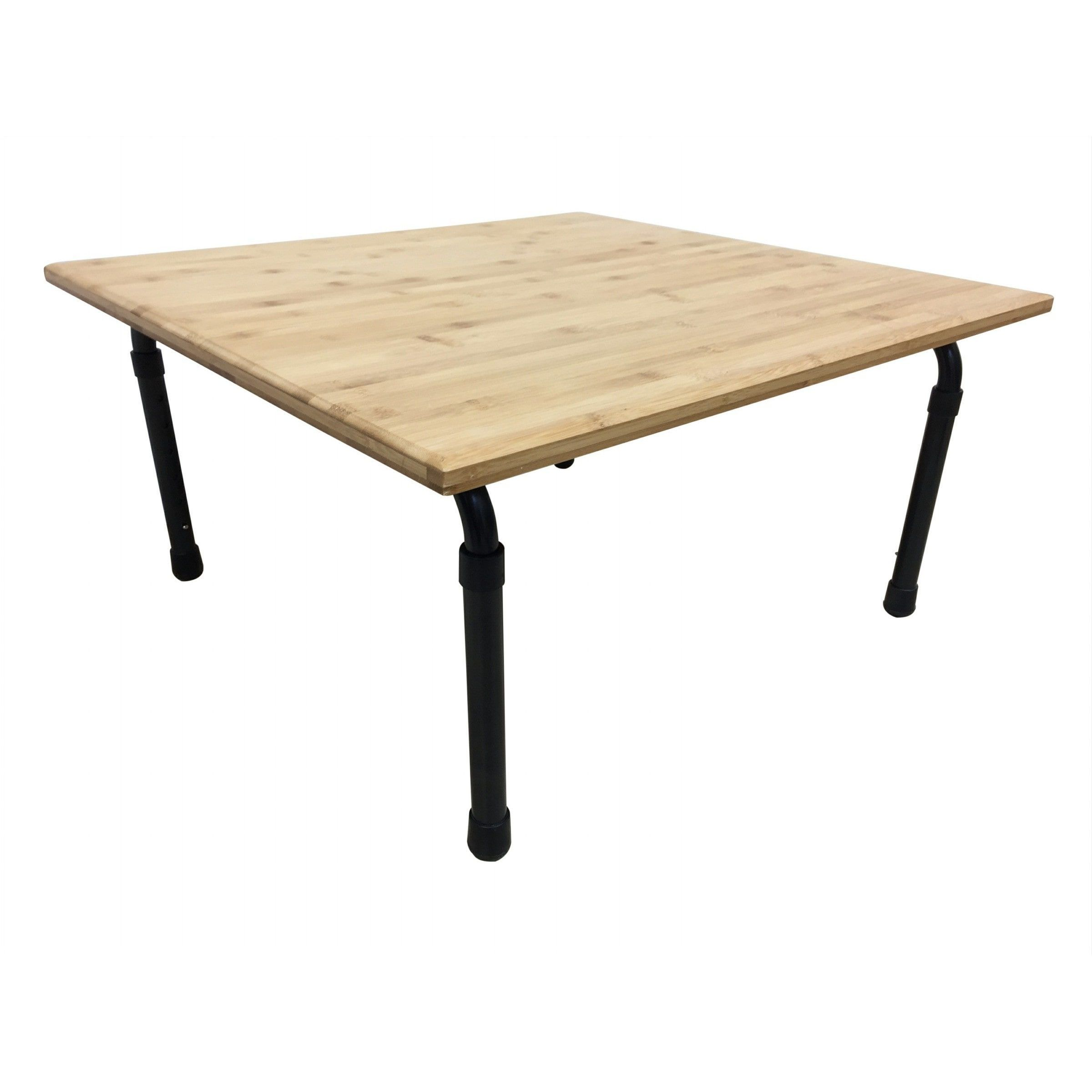 Zora Brown Bamboo Height Adjustable Table 24 Inch Long Brown