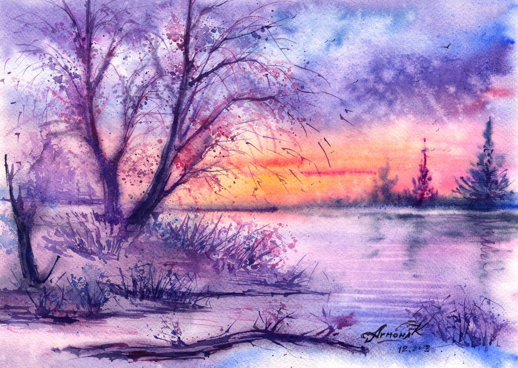 Frosty magic of evening. by AnnaArmona.deviantart.com on ...