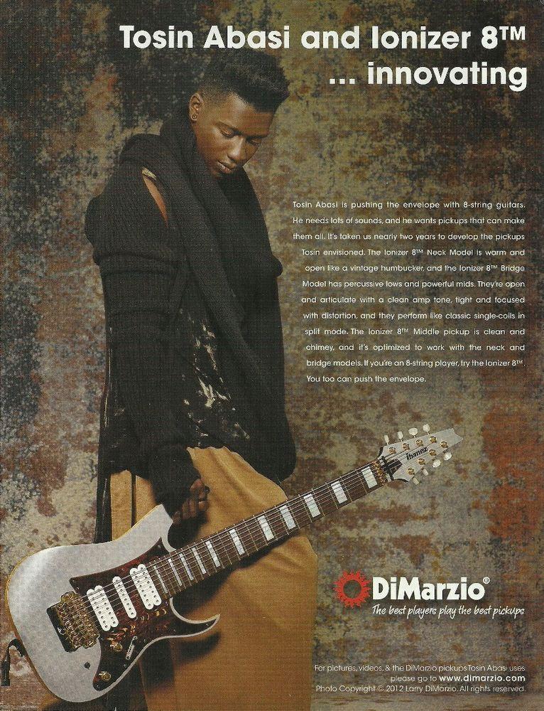 Tosin Abasi Animals As Leaders Dimarzio Ionizer 8tm Guitar Pickups 8 X 11 Ad Dimarzio