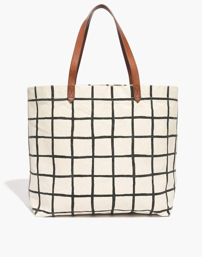 19ff5b4b1 Madewell The Canvas Transport Tote in Windowpane in 2019 | Products ...
