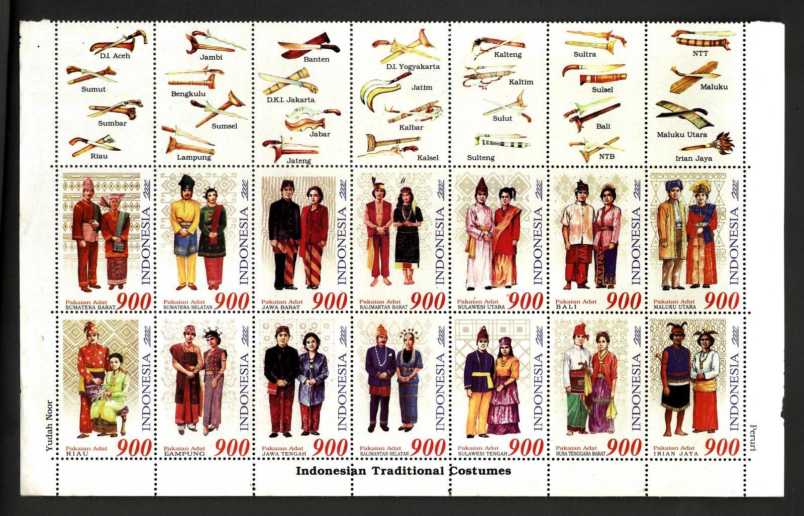 Pakaian Adat Indonesia 34 Provinsi Dan Gambarnya