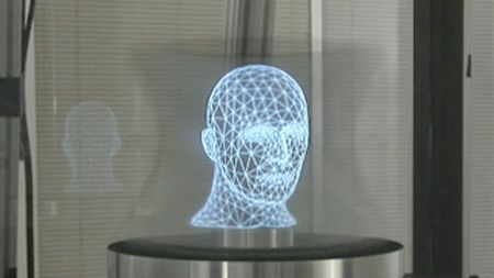 Feature Machine Uses Mirror To Generate 360 Degree Viewable Holograms Techeblog Hologram Technology Innovation Technology Holographic
