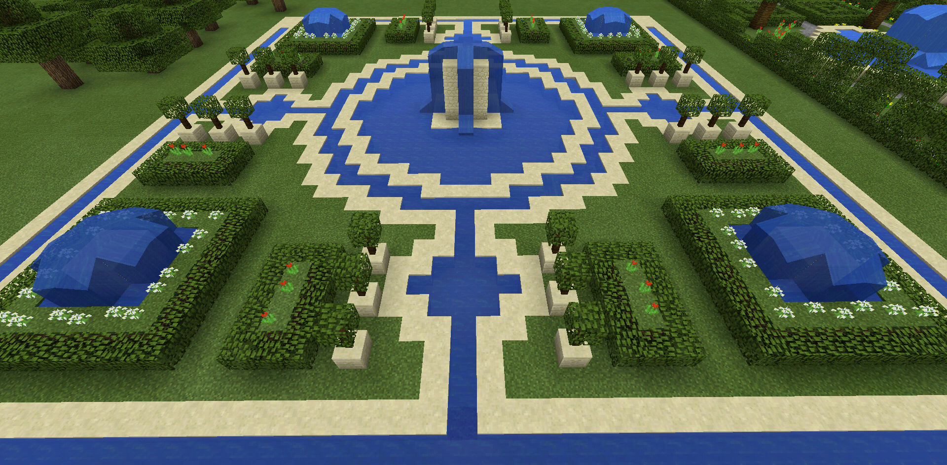 Minecraft fountain garden maze minecraft creations pinterest fountain garden minecraft - Minecraft garden designs ...