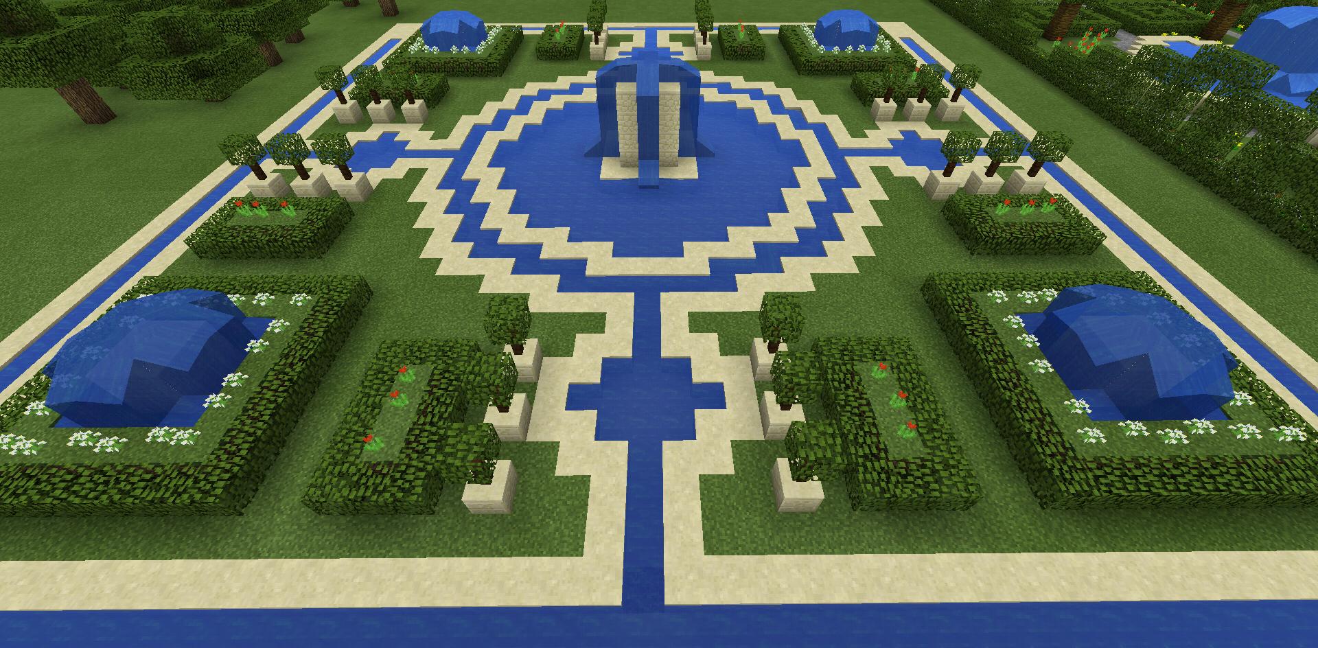 Minecraft Fountain Garden Maze Minecraft Garden Minecraft