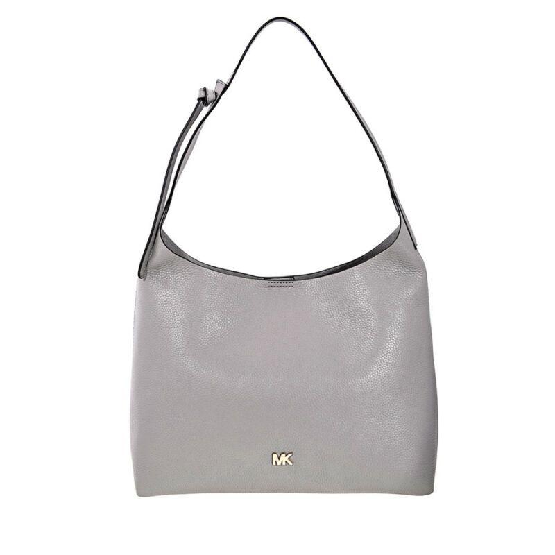 6b780f94a30b Michael Kors Junie Medium Leather Shoulder Bag - Pearl Grey 30T8TX5H2L-081