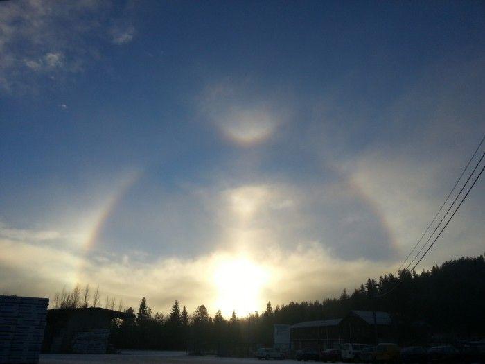 Halo solar desde Trysil, Noruega