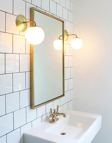 Alto Sconce Pinterest Bath Lights And Interiors - Gold bathroom sconces