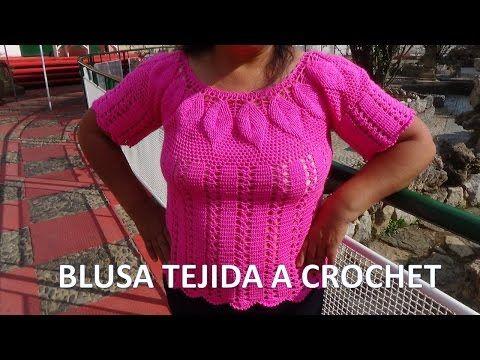 Blusa tejida a crochet para el verano - Learn Knitting easy crochet ...