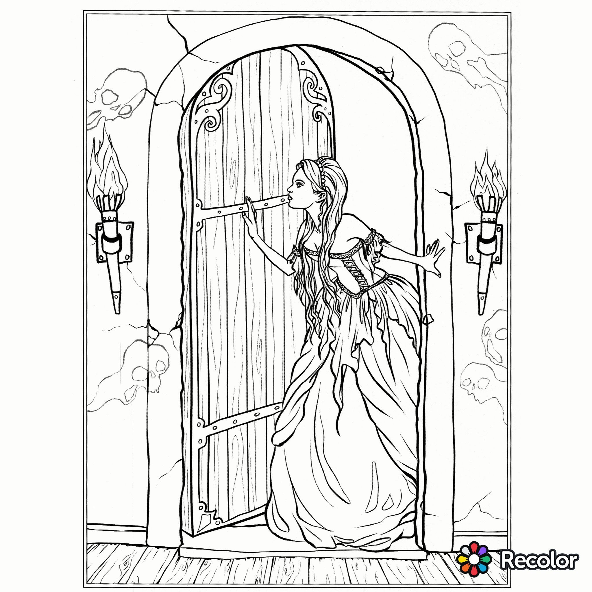 Gothic Coloring Page Adult Coloring Designs Steampunk Coloring