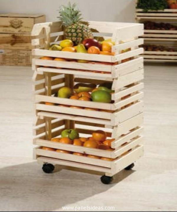 Pallets Vegetables and Fruit Racks Pallet Ideas Muebles faciles