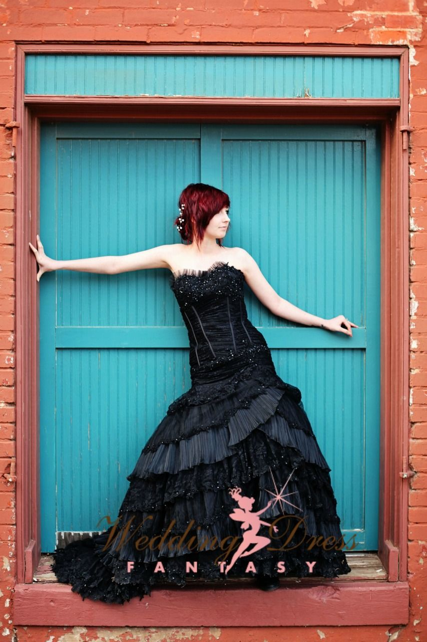 Black wedding gown available in every color sum black wedding