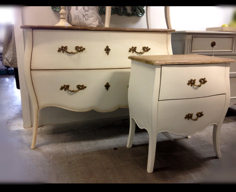 Appleby Commode Distressed White with Limewash Top