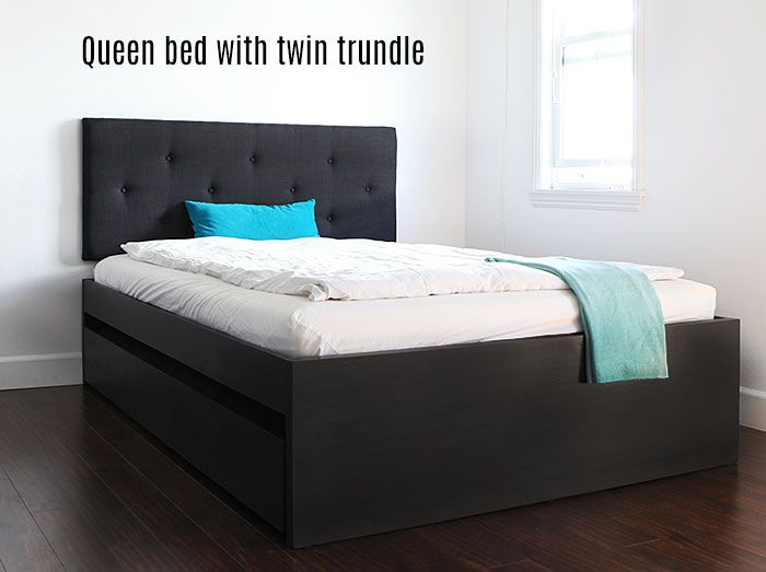 Best How To Build A Queen Bed With Twin Trundle Ikea Hack 640 x 480