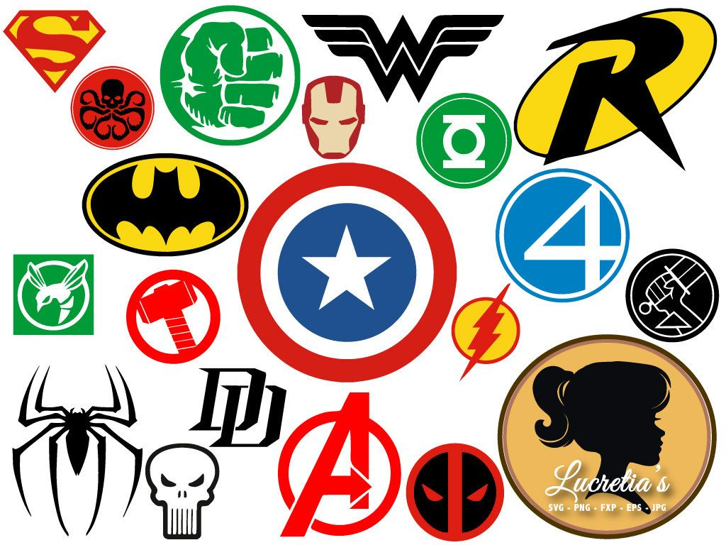 Superheroes SVG, Superhero eps, Superhero logo SVG