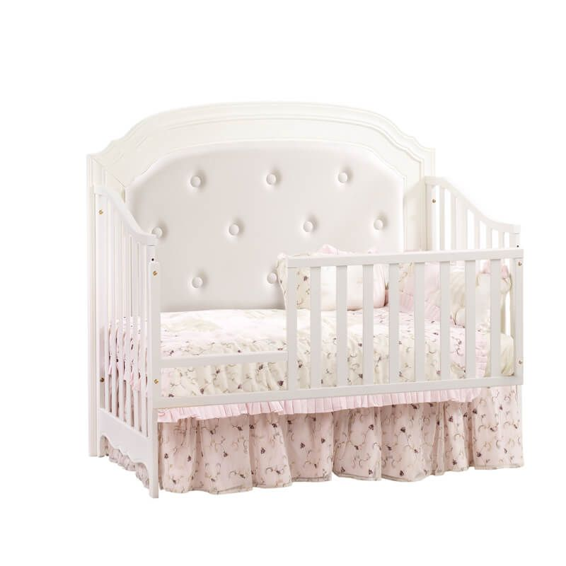 Allegra 4 in 1 Convertible Crib in French White Toddler Gate ...