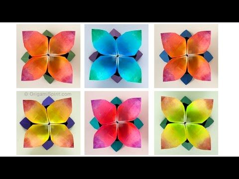 Origami instructions carambola carmen sprung youtube origami origami tutorial and video instruction on how to fold an origami four petal flower designed by leyla torres our updated and easier video for this mightylinksfo