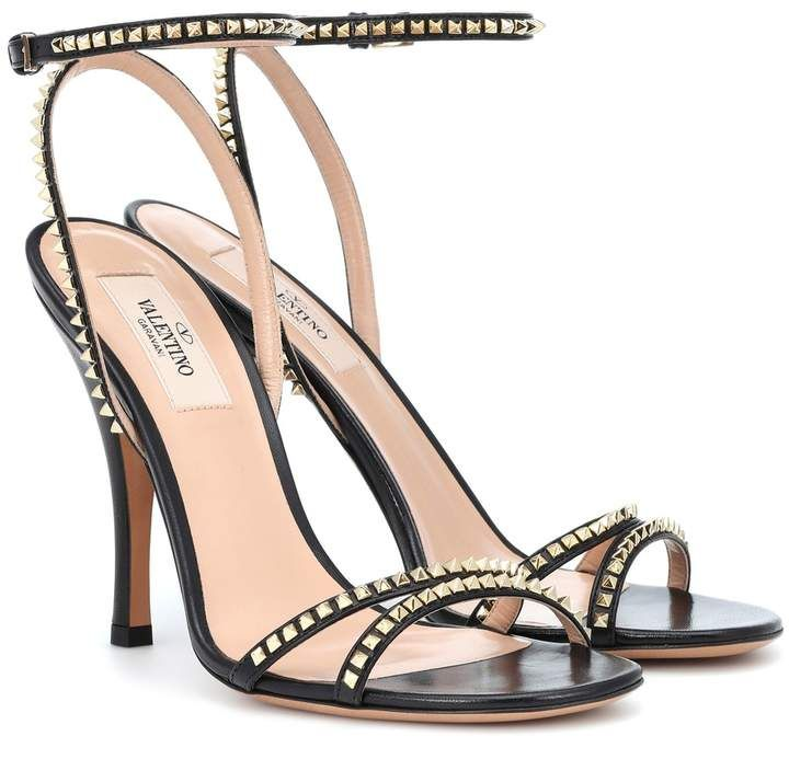 5ea0f9505380 Valentino Rockstud leather sandals in 2019
