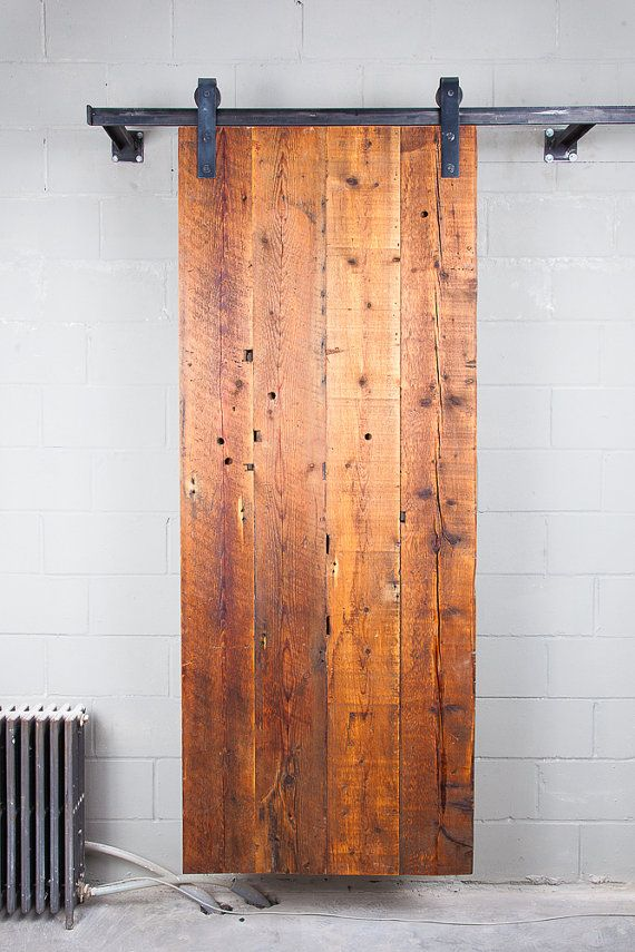 Reclaimed Sliding Barn Door/ Reclaimed Wood Door/ Carolina Pine Wood/ Home/  Office Spaces Barn Door/ Made In Brooklyn NY/ Ready For Shipping.